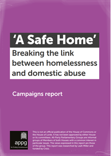 A Safe Home report cover