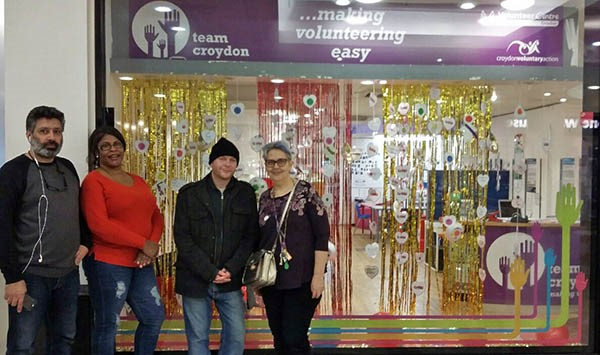 Our volunteers with the shop window display